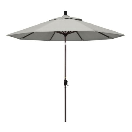9' Market Style Outdoor Umbrella with Wind Vent Canvas Granite