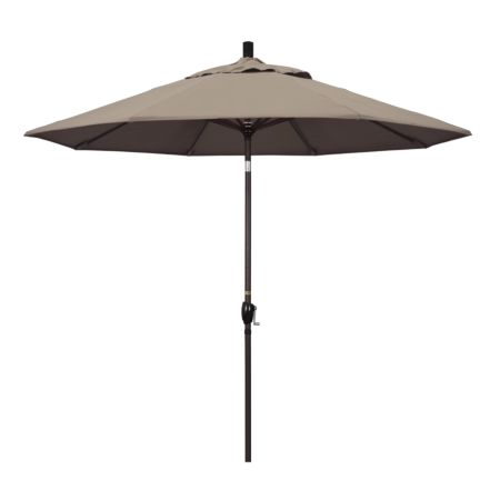 9' Market Style Outdoor Umbrella with Wind Vent Canvas Taupe