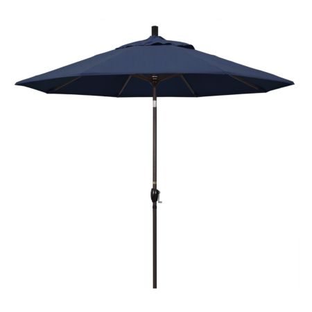 9' Market Style Outdoor Umbrella with Wind Vent Spectrum Denim