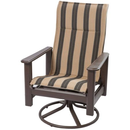 Marine Grade Polymer High Back Swivel Rocker - Berenson Tuxedo Fabric