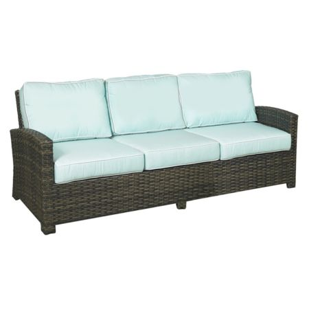 Lakeside Wicker Deep Seating 3 Seater Sofa