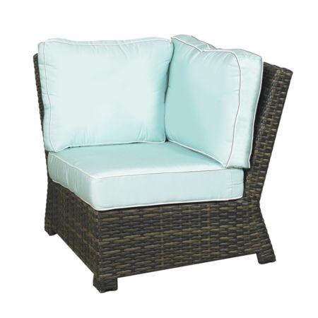 Lakeside Wicker 90 Degree Corner Chair