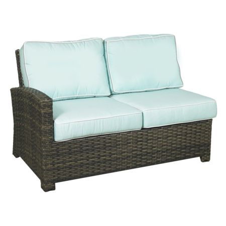Lakeside Wicker Sectional Left Arm Loveseat