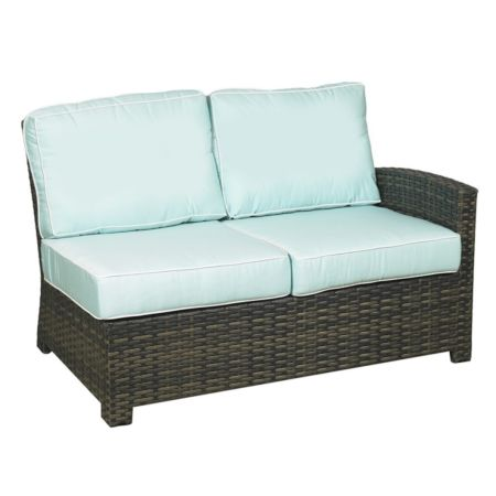 Lakeside Wicker Sectional Right Arm Loveseat