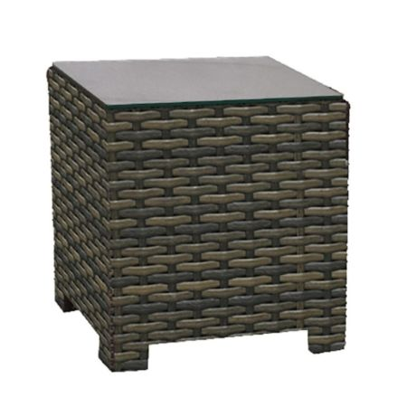 Lakeside Wicker Square End Table