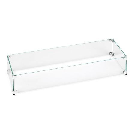 Linear Fire Table Glass Wind Guard 30x6