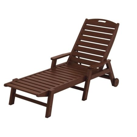 Polywood Nautical Chaise With Arms & Wheels