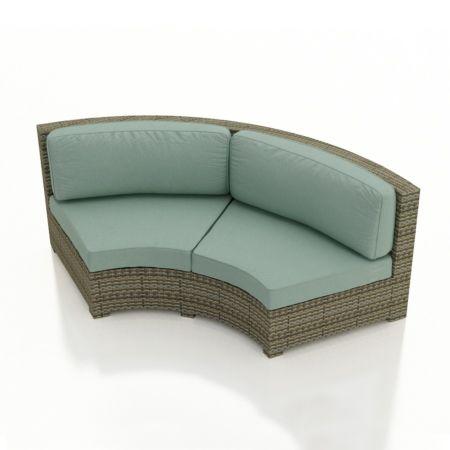 Malibu Collection Curved Sofa Sectional