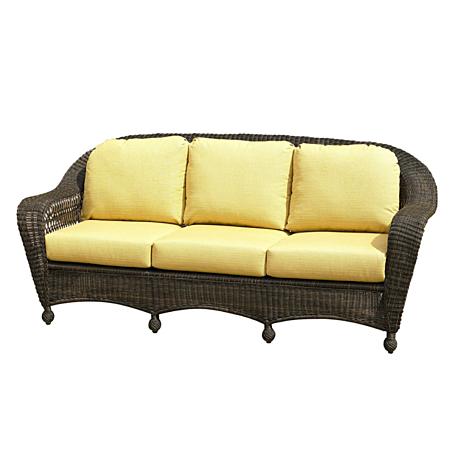 Charleston 3 Seat Sofa Cushions - Dupione Bamboo