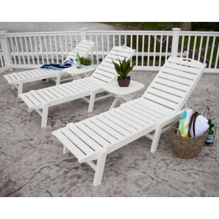 Polywood Nautical Chaise With Wheels