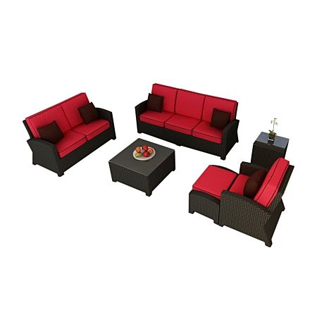 Cabo Wicker Sofa Set- 6 Piece