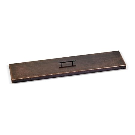Oil Rubbed Bronze Stainless Steel Linear Burner Pan Cover