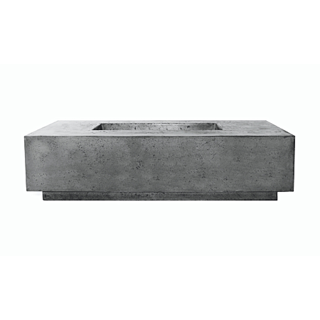 Prism Tavola 8 Concrete Fire Table - Pewter