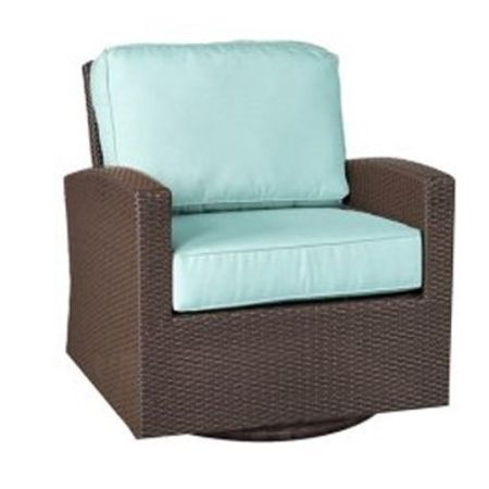 Universal Swivel Glider Chair - Cabo Weave is Jacobean which is slightly darker