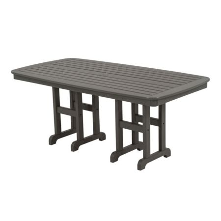 "Polywood Nautical 37"" x 72"" Dining Table - Grey"