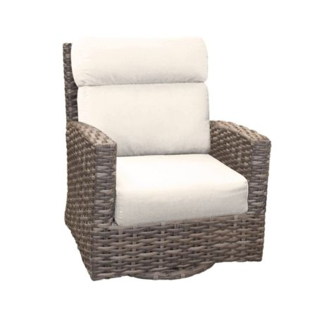 Portofino Wicker High Back Swivel Glider