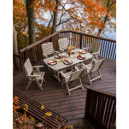 POLYWOOD Nautical 7-Piece Dining Set Set