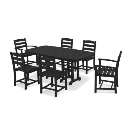 La Casa Café 7Pc Dining Set - Black
