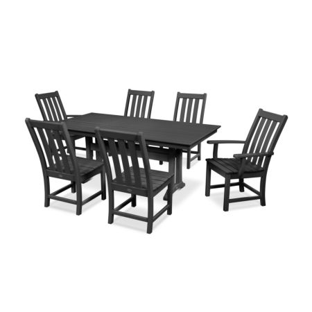 POLYWOOD Vineyard 7-Piece Farmhouse Trestle Dining Set