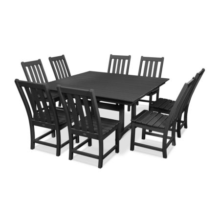 POLYWOOD Vineyard 9-Piece Farmhouse Trestle Dining Set