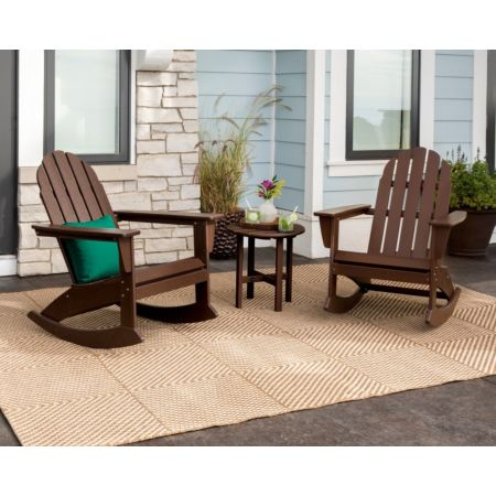 POLYWOOD Vineyard 3-Piece Adirondack Rocking Chair Set