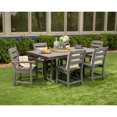Polywood Lakeside 7-Piece Farmhouse Dining Set