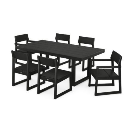 Edge 7 pc Dining Set - Black