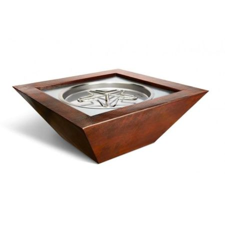 Sedona Hammered Copper Gas Fire Pit Bowl Fire Pit
