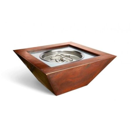 Sierra Smooth Copper Gas Fire Pit Bowl Fire Pit