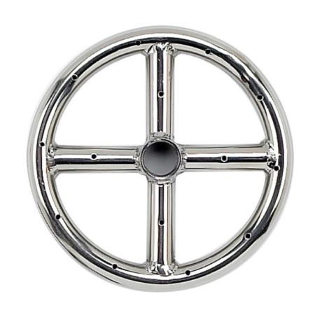 """6"""" Stainless Steel Fire Pit Ring Burner"""