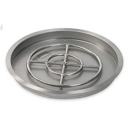 "19"" Round Stainless Steel Drop-In Fire Pit Pan"