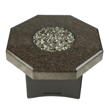 "Oriflamme Mini 32"" Octagon Fire Table - Cafe Imperial"