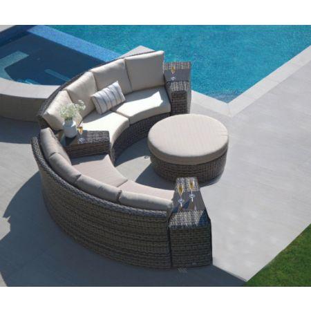 Portofino 2pc Wedge Sofa Set in Frequency Ash