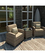 Bainbridge 3 piece wicker outdoor set