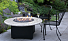 Oriflamme Gas Fire Pit Table Optima Giallo Santo