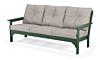 Green Frame + Weathered Tweed Cushion