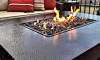 Oriflamme Hammered Copper Rectangle Gas Fire Table