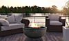 Prism Ebony Moderno 1 Concrete Fire Bowl