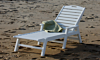 POLYWOOD Nautical Chaise with Arms - Stackable
