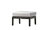 Lucia Ottoman with cushion by Ratana