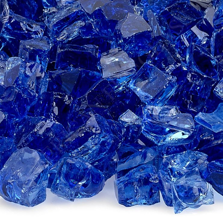 Fire Pit Fireplace Glass - Half Inch Cobalt Blue