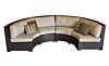 Malibu Collection Curved Wicker Sectional Sofa Set