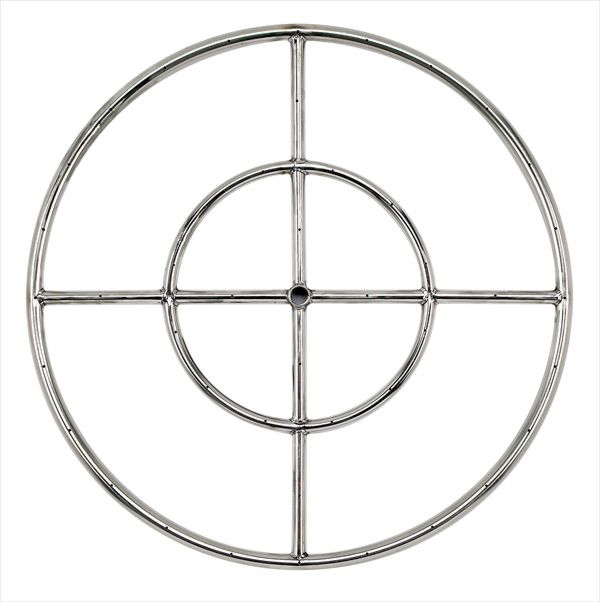 """24"""" Stainless Steel Fire Pit Ring Burner"""