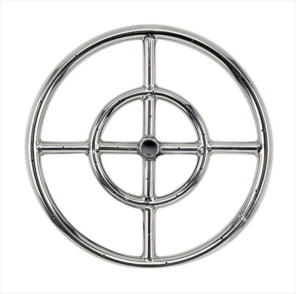 "12"" Stainless Steel Fire Pit Ring Burner"