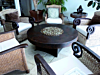 "48"" Round Hammered Copper Gas Fire Pit"
