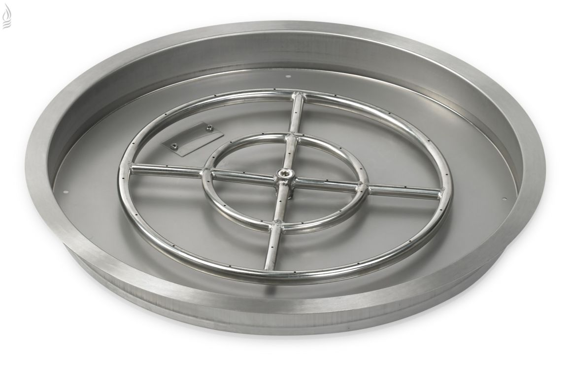 """19"""" Round Stainless Steel Drop-In Fire Pit Pan"""