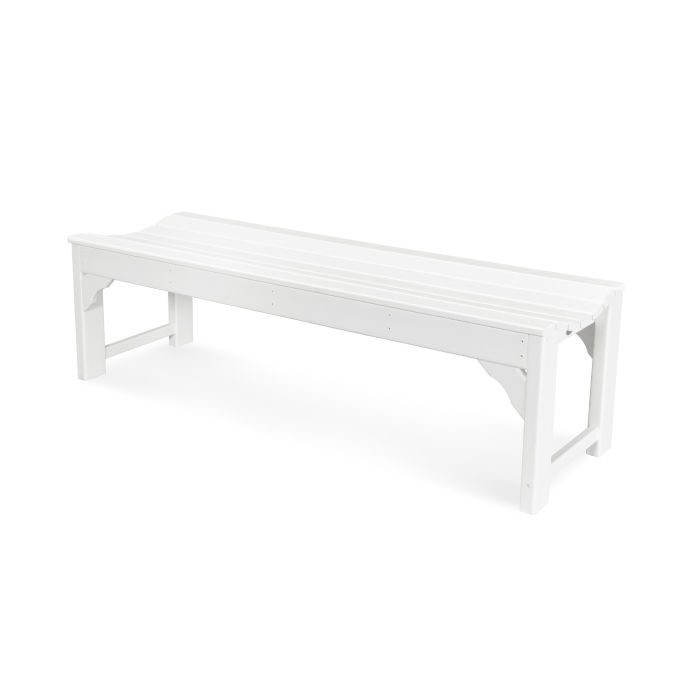 Polywood Traditional Garden 60 Quot Backless Bench Recycled