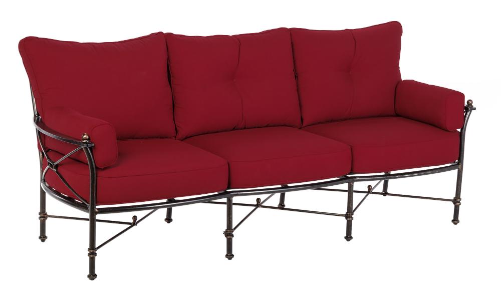 3 Seater Sofa in Crimson Red