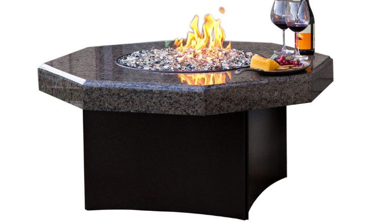 Octagon Fire Pit Granite Fire Table Patio Fire Pit Table