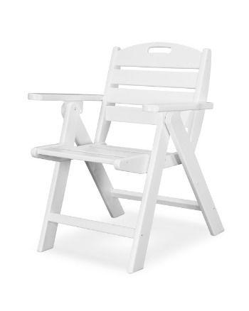 POLYWOOD NCL32BL Nautical Lowback Chair Black